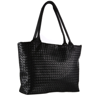 Women Handbag Braided Shoulder Bags Tote Purse PU Leather Hobo Bag