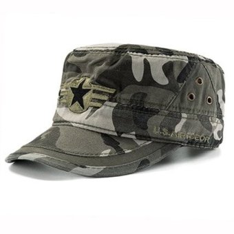 Harga Sports cap men cap flat cap female korean wild influx of people hat british summer baseball cap outdoor travel cap (Adjustable-pentacle-camouflage)
