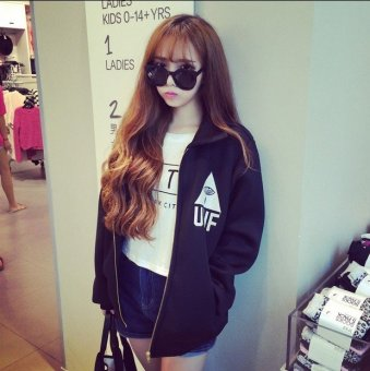 Harga Korean-style space cotton letter loose Top hoodie