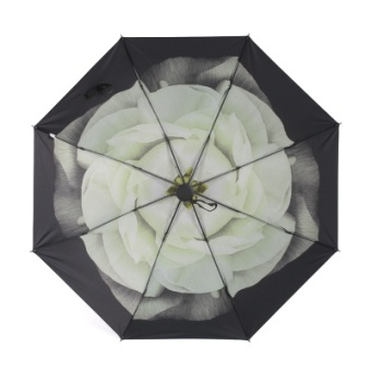 Harga Hope house square small daisy creative umbrella folding umbrella sun umbrella uv umbrella sun umbrella black umbrella (Mysterious night flowers)