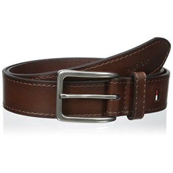 Harga Tommy Hilfiger Mens 35mm Vegatable Leather Belt, Tan, - intl