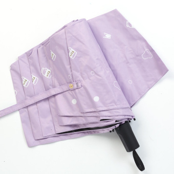 Harga Small fresh creative umbrella umbrella sun umbrella rain or shine dual female uv sun umbrella folding umbrellas vinyl (Milk purple)