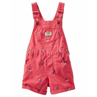 Harga OKGL020 Oshkosh Girls SCHIFFLI FLOWER TWILL SHORTALLS jumper overalls