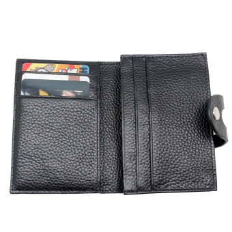 Harga Boshiho® RFID Blocking Secure Leather Business Card Organizer ID Credit Card Holder Wallet with Hasp Prevent Electronic Pick Pocketing - Intl