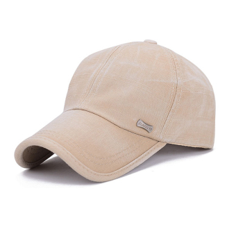 Harga Men's Baseball Cap Cotton Hat Sun Hat Outdoor Cap for Spring Autumn beige
