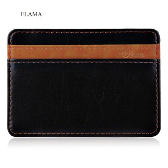 Harga FLAMA Color Block Resilient Magic Closure Short Money Clip for Unisex - intl