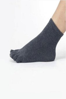 Harga Okdeals Unisex Socks Sports Ideal For Five 5 Finger Toe Shoes Dark Gray