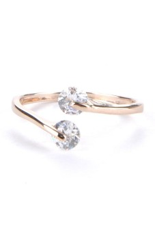 Harga Rose Gold Plated Crystal Rings
