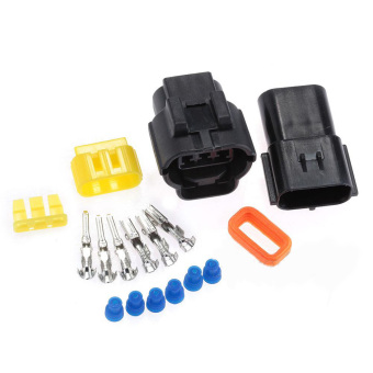 Harga 2 Sets 3 Pin Male & Female Waterproof Cable Connector Plug Auto part