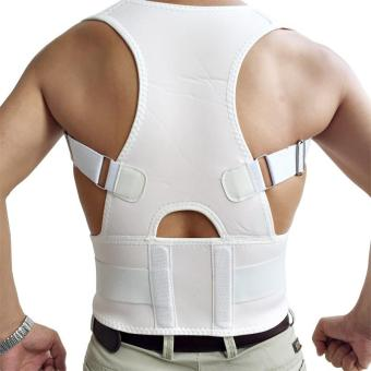 Harga 2017 Posture Brace Shoulder Back Support Men Shoulder Posture Hot Sale Belly Sweat Belt Back Posture Corrector (White) - intl
