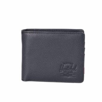 Harga Herschel hank leather wallet with Coin pocket – Black Pebbled Leather