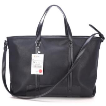 Harga ZARA Trafaluc faux leather sling tote ( black )