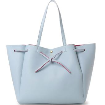Harga Samantha Thavasa (COLORS by Jennifer sky) Classic Tote Bag Shoulder bag (Large size, Light blue color)