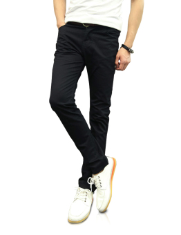 Harga Demon and Hunter 910X Slim-Fit Series Men's Casual Trousers Pants Chinos DH9101 Black(Export)