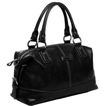 New Women Handbag Shoulder Bags Tote Purse PU Leather Ladies Messenger Bag (Black) - Intl