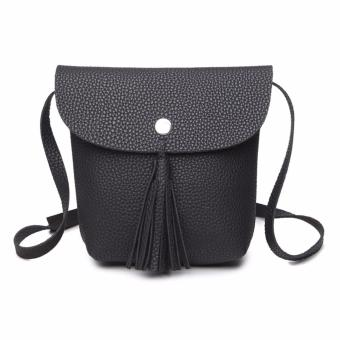 Harga Mini Tassel Flap Sling Bag (Black)