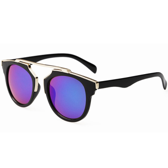 Moonar Vintage UV Protection Sunglasses Colorful Reflective Film (EXPORT)