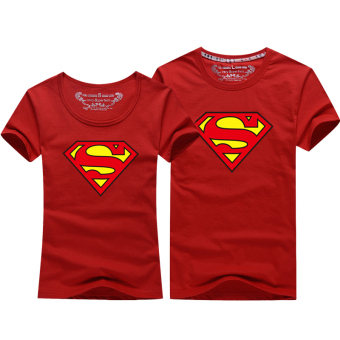 Superman cartoon New style short-sleeved men and women casual T-shirt