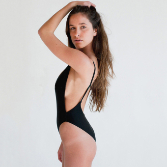 Womens Swimsuit Swimwear One-Piece Split Side exposed Flirty Halter Swimsuits