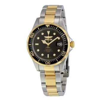 Harga Invicta Pro Diver Men Gold IP 38mm Quartz Stainless Steel Diving Watch 8934