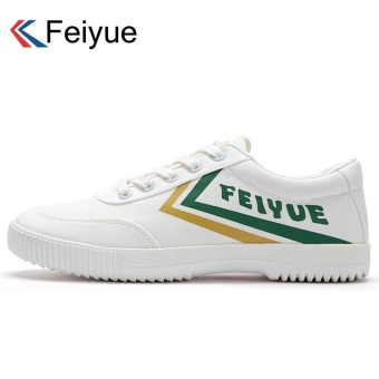 Harga Fei Yue retro canvas shoes men's European and American wind to help low canvas shoes Shoes casual shoes couple models running shoes (37 + 8038 yellow green)