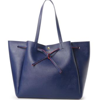 Harga COLORS by Jennifer sky (Samantha Thavasa) Classic Tote Bag Shoulder bag (Large size, Navy blue color)