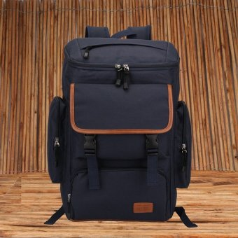 Unisex Messenger Shoulder bag big backpack travel bag NAVY BLUE