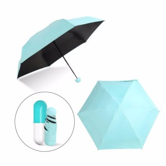Harga Mini Capsule Umbrella Clear Pocket Umbrella Windproof 5-Folding Umbrellas Anti-Suncreen/Anti-UV Women Compact Rainsun Umbrella - intl