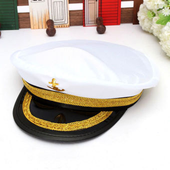 Harga Yacht Captain Skipper Sailor Boat Marine Anchor Cap Navy Hat Costume Party Dress