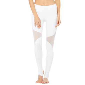 Harga New style Women's step foot yoga trousers stitching pants sports fitness dance slim fit pants quick-drying stretch pants (White)