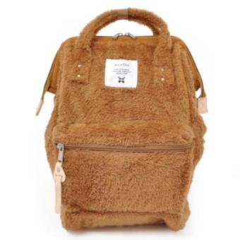Harga 【Anello】 Authentic Japan Mini Backpack - Polar Bear Alike Fur - Khaki