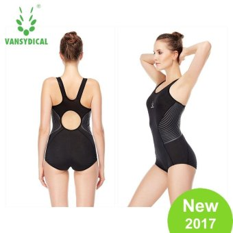 Harga VANSYDICAL Women Swimsuits One-Piece Suits Swimwear Quickly Dry Breathable Fitness Swimming Compression Beachwear