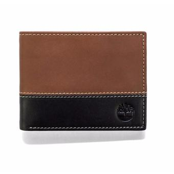 Harga Timberland Men's Hunter Color-Block Passcase, Black/Brown