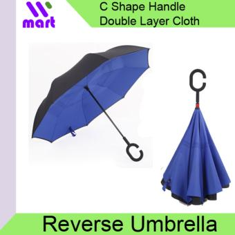 Harga Reverse Umbrella Wind proof with C handle - Navy Blue