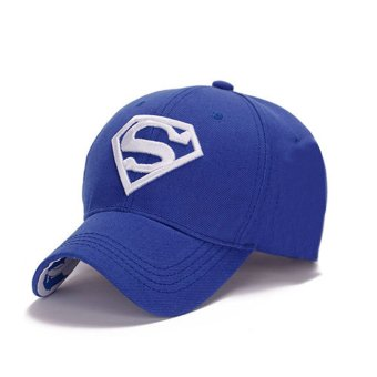 Harga Couple Hip-Pop Fashion Sun Hat Supperman Baseball Cap Golf Cap royalblue+white