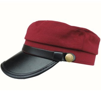 Harga 2017 large brimmed hat outdoor sports cap hiking cap sun hat baseball cap hat men and women hat (Wine red)