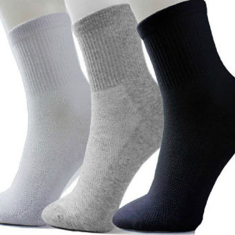 3 Pairs Men's Socks Thermal Casual Soft Cotton Sport Sock Gift Mixed Color - intl