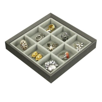 Harga AGVA Stackable Series 9 Compartment Jewellery Tray