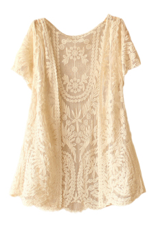 Harga Casual Summer Lace Cardigan (Beige)