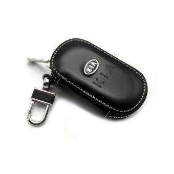 Harga Leather Car Remote Key Holder Case Cover for KIA (Black) - intl