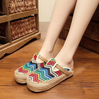 Harga National Wind twine handmade woven non-slip shoes