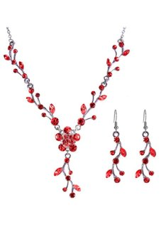 Harga Bluelans Flower Jewellery Set (Red)