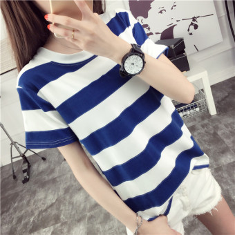 Harga Simple striped Short sleeve summer