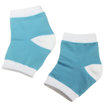 Harga 1 Pair Heel Dry Hard Cracked Skin Moisturising Open Toe Comfy Pain Relief Socks - intl