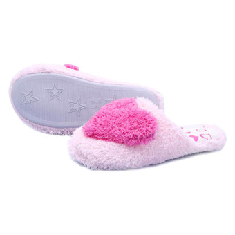 Harga 3D Heart Pink Home Slippers - Size 38-39