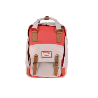 Doughnut Macaroon Unisex Waterproof Nylon Backpack (PUMPKIN X IVORY) - intl