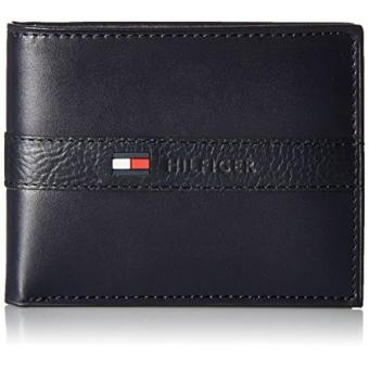 Tommy Hilfiger Mens Ranger Leather Passcase Wallet with Removable Card Holder - intl