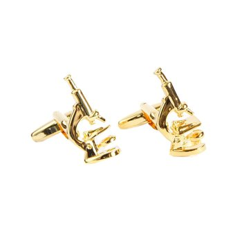 Harga Gold Plated Scientific Microscope Cufflinks