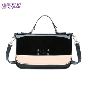 Harga Bright patent leather Star bright side shoulder messenger bag