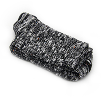 ZigZagZong 2PCS Men Knit Crochet Cotton Soft Wool Mid-Calf Length Socks Thick Winter Warm Black - intl